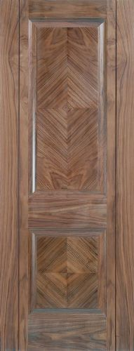Internal Walnut Madrid Panelled Half Hour Fire Door